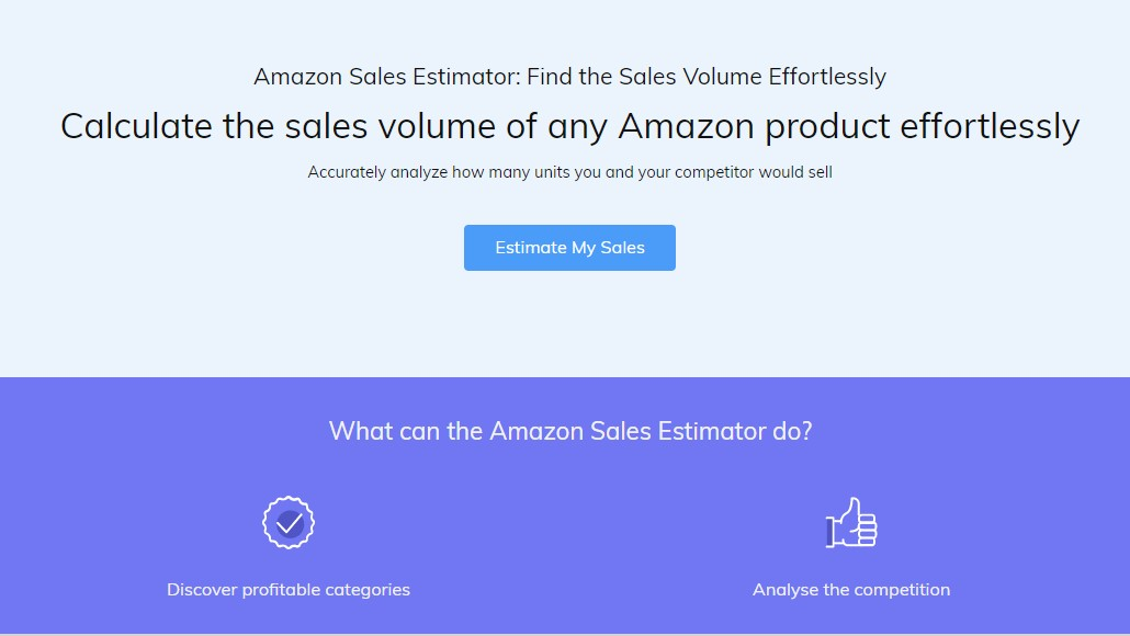 amazon sales estimator